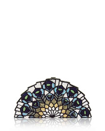Tessen Crystal Fan Clutch Bag