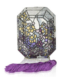 Addison Floral Crystal Octagon Clutch Bag