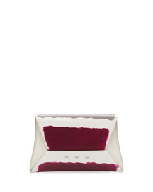Manila Hand-Painted Clutch Bag, Coconut