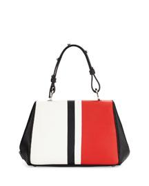 Calf Baiadera Small Hinge-Frame Bag, Multi