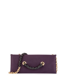 Small Satin Chain Clutch Bag