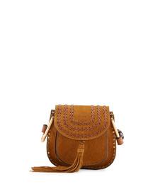 Hudson Mini Suede Saddle Bag