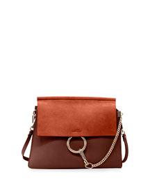 Faye Medium Leather/Suede Bag