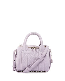 Mini Rockie Pebbled Leather Satchel Bag, Lavender
