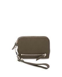 Fumo Large Zip-Around Wristlet Wallet, Grass