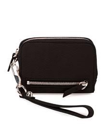 Fumo Large Zip-Around Wristlet Wallet, Black