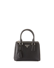Saffiano Lux Micro Tote Bag w/Shoulder Strap