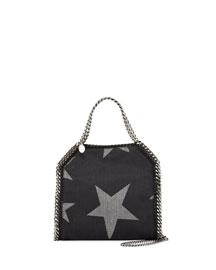 Mini Bella Star-Print Denim Tote Bag, Black