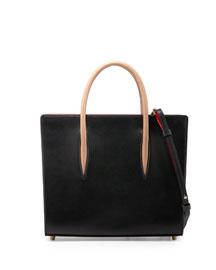 Paloma Medium Triple-Gusset Tote Bag, Black/Brown