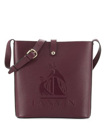 Logo-Embossed Leather Shoulder Bag
