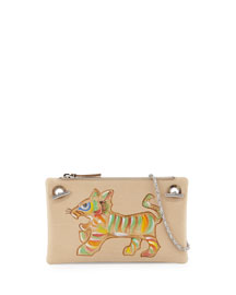 Happy Hour 7 Shoulder Bag, Multi/Tiger