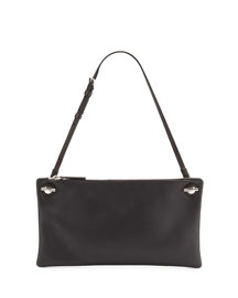 Happy Hour 10 Leather Pouch Shoulder Bag, Black