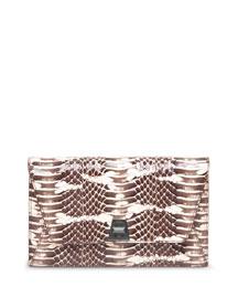 Anouk Snakeskin Envelope Clutch Bag, Rock