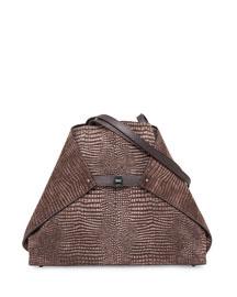 Ai Reversible Medium Soft Shoulder Bag, Brown