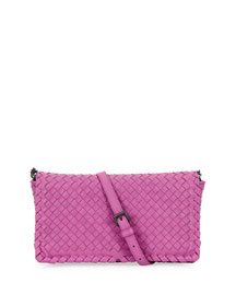 Small Woven Leather Clutch Bag