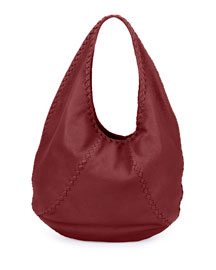 Cervo Leather Large Hobo Bag