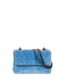 Olimpia Intrecciato Quilted Velvet Shoulder Bag