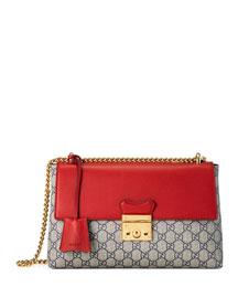 Padlock Leather Chain Shoulder Bag