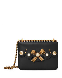 Peony Small Leather Chain Shoulder Bag