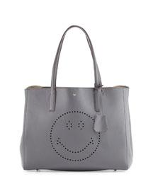 Ebury Shopper Smiley Tote Bag, Dark Slate Circus