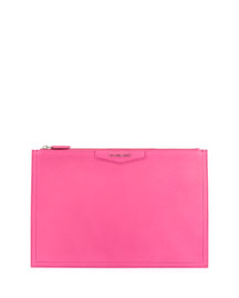 Antigona Medium Sugar Pouch Bag, Shocking Pink
