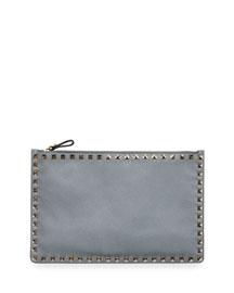 Rockstud Large Flat Clutch Bag