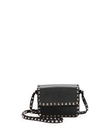 Rockstud Vitello Flap-Top Shoulder Bag
