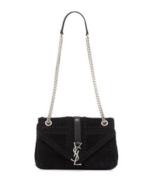 Monogram Medium Macrame Slouchy Chain Shoulder Bag, Noir