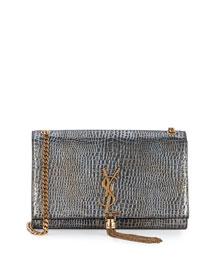 Kate Monogram Medium Crossbody Bag, Dark Platinum