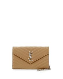 Monogram Matelasse Shoulder Bag, Deep Beige