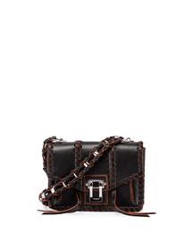 Hava Whipstitch Leather Chain Shoulder Bag
