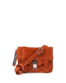 PS1 Mini Suede Crossbody Bag, Mahogany