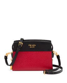 Bicolor Mini Leather Crossbody Bag