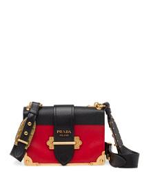 Cahier Notebook Shoulder Bag, Red/Black (Fuoco/Nero)