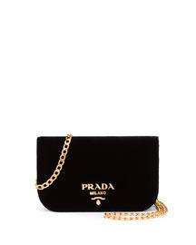 Small Velvet Flap Crossbody Bag