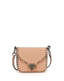 Rockstud Flap-Top Leather Shoulder Bag