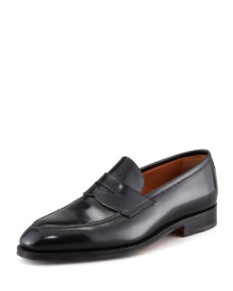 Bontoni Principe Leather Penny Loafer, Black