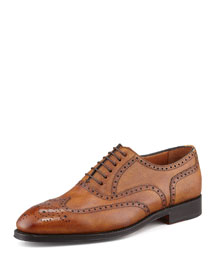 Libertino Wing-Tip Oxford, Tan