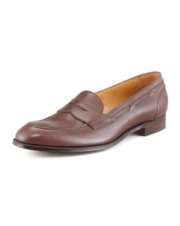 Gravati Moc Toe Penny Loafer, Brown