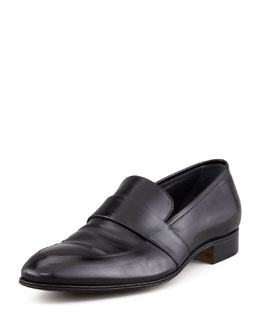 Gravati Slip-On Loafer with Elongated Blind Keeper, Black