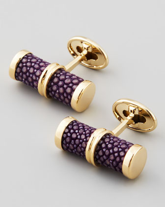 Stingray Bar Cuff Links, Purple