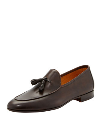 Apron-Toe Tassel Slip-On
