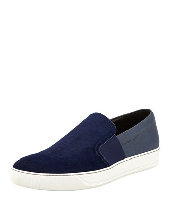 Calf Hair & Canvas Slip-On