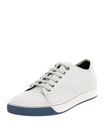 Nubuck Lace-Up Low-Top Sneaker