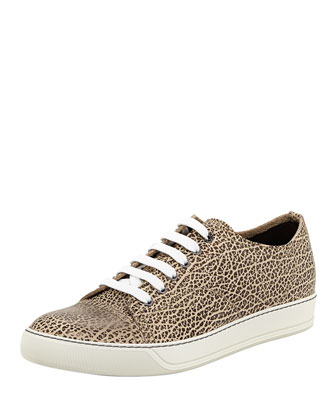 Men's Textured Animal-Print Low-Top Sneaker