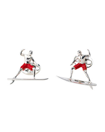 Sterling Silver Surfer Cuff Links