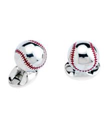 Sterling Baseball Cuff Links