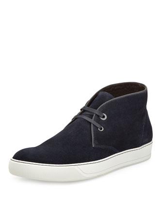 Suede Chukka Sneaker, Navy
