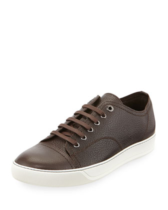 Grainy Leather Low-Top Sneaker
