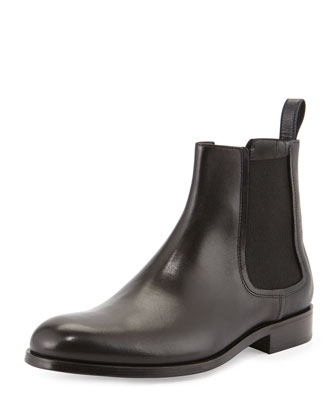 Mixed-Leather Chelsea Boot